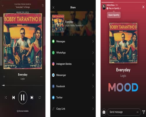 How to share the Spotify song on your Instagram story- InstaModsAPK